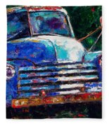Old Chevy Truck Fleece Blanket