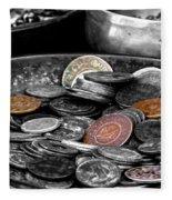 Old Coins Fleece Blanket