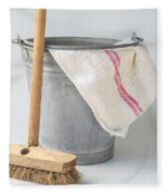 Old Fashioned Housekeeping With Zinc Bucket Fleece Blanket
