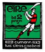 old Irish postage stamp Fleece Blanket