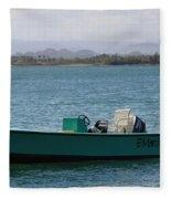 Old San Juan Puerto Rico Local Boats Fleece Blanket