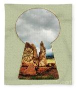 Old Spanish Trail Marker Fleece Blanket