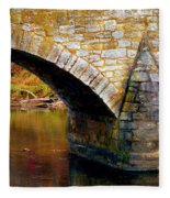 Old Stone Bridge Fleece Blanket