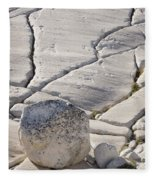 Olmstead Rock And Cracks 2 Fleece Blanket