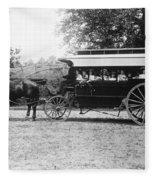 Omnibus, C1899 Fleece Blanket