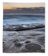 On The Ledge - Sunrise Seascape Fleece Blanket