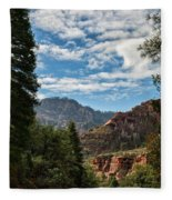On The Road To Red Rocks  Fleece Blanket