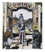 Open Door Cartoon, 1900 Fleece Blanket