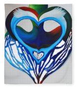 Open Heart Fleece Blanket