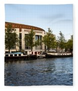 Opera House At The Waterfront Fleece Blanket