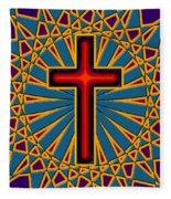Ornamental Cross Fleece Blanket