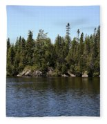 Orphan Lake, Canada Fleece Blanket