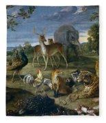 Orpheus And Animals Fleece Blanket