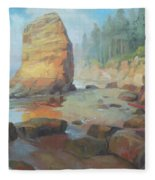 Otter Rock Beach Fleece Blanket