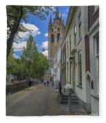 Oude Kerk In Delft Fleece Blanket