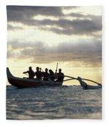 Outrigger Canoe Fleece Blanket