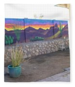 Outside Mural Fleece Blanket