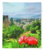 Overlooking Granada Fleece Blanket