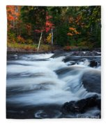 Oxtongue River Ontario Autumn Scenery Fleece Blanket