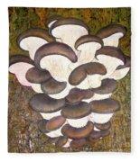 Oyster Mushroom Fleece Blanket