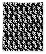 Oz Australia Black On White. Fleece Blanket