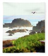 Pacific Ocean Monterey California  Fleece Blanket