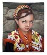 Pakistani Girl Fleece Blanket