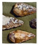 Paleolithic Tools Fleece Blanket