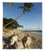 Palm And Driftwood Fleece Blanket