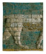 Panel With Striding Lion Fleece Blanket