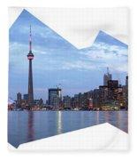 Panorama Of The City Of Toronto Fleece Blanket
