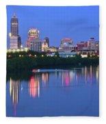 Panoramic Indianapolis Fleece Blanket