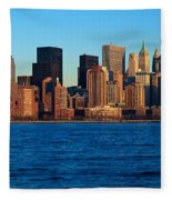 Panoramic Sunset View Of Lower Fleece Blanket