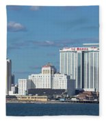 Panoramic View Of Atlantic City, New Jersey Fleece Blanket
