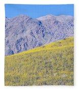 Panoramic View Of Desert Gold Yellow Fleece Blanket