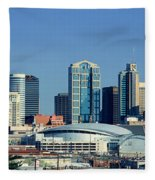 Panoramic View Of Nashville, Tennessee Fleece Blanket