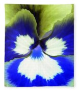 Pansy Power 85 Fleece Blanket