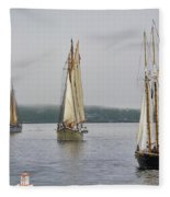 Parade Of Sails Fleece Blanket