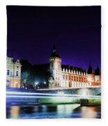 Paris At Night 15 Art  Fleece Blanket