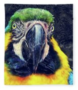 Parrot Art  Fleece Blanket