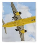 Passenger Jet Coming In For Landing  Fleece Blanket