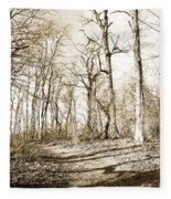 Path In A Forest Fleece Blanket
