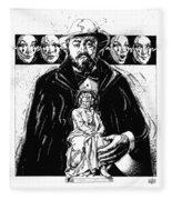 Pavarotti, Fidelio, Inking Fleece Blanket
