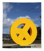 Peace From The Oakland Museum . Oakland California . 7d13411 Fleece Blanket