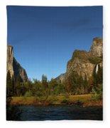 Peaceful Merced River Fleece Blanket