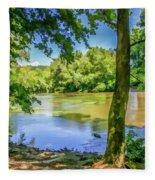 Peaceful On The River Fleece Blanket