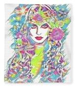 Peko - Keeper Of Flora Fleece Blanket