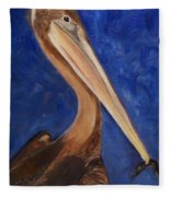 Pete Pelican Fleece Blanket