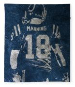 Peyton Manning Colts 2 Fleece Blanket