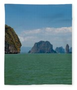 Phang Nga Province Of Phuket Thailand Fleece Blanket
